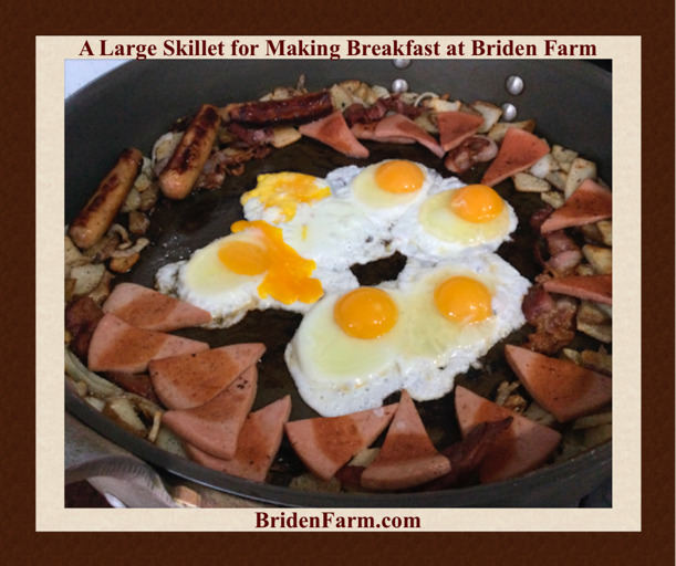 A Large Skillet for Making Breakfast at Briden Farm