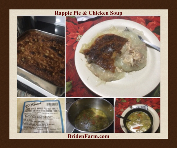 Rappie Pie and Chicken Soup
