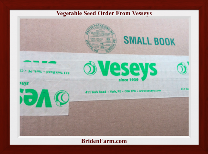 Vegetable Seed Order from Vesseys
