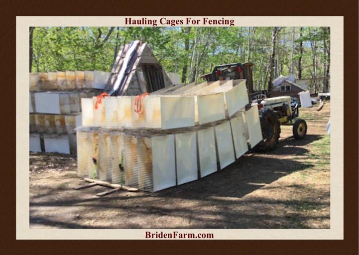 Hauling Cages For Fencing