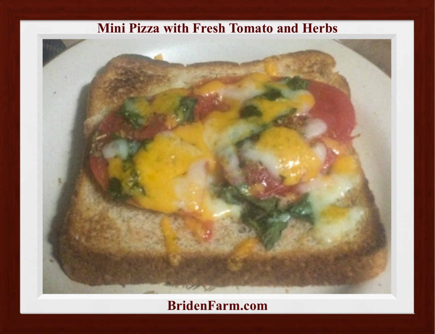 Mini Pizza with Fresh Tomato and Herbs